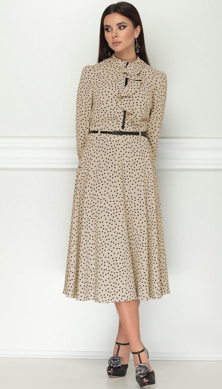 Платье LeNata-11151/2 белорусский трикотаж, песочный, 46