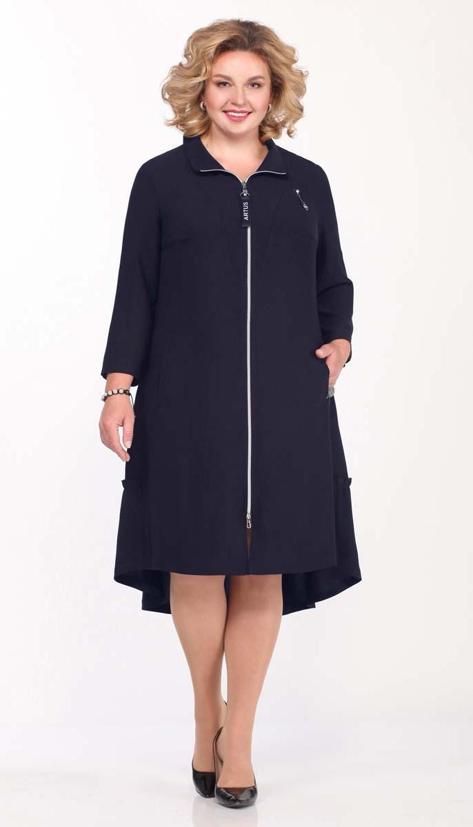Платье Matini-31381/3 белорусский трикотаж, темно-синий, 52