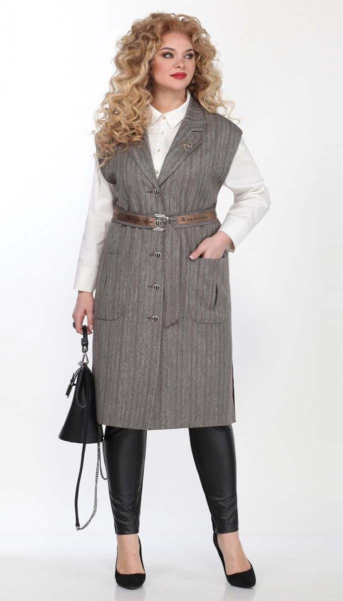 Жакет Matini-41456 білоруський трикотаж, сірий, 52