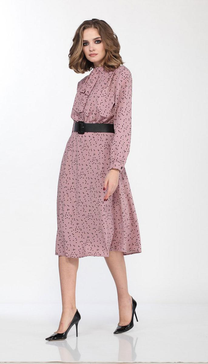 Сукня Olegran-3681/2 білоруський трикотаж, рожевий , 44