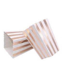 "Коробочка для попкорна ""Pink gold stripes"" (1 шт.)"