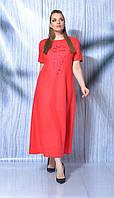 Сукня Mali-419-012/2 білоруський трикотаж, червоний, 50, фото 1