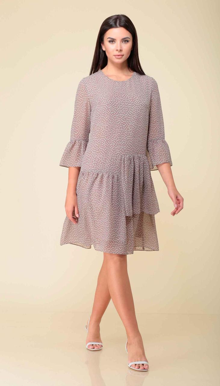 Платье Асолия-2520 белорусский трикотаж, пудра, 44
