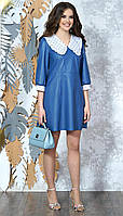 Платье Alani-1351 белорусский трикотаж, синий, 42, фото 1