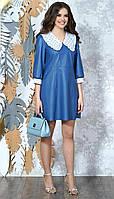 Сукня Alani-1351 білоруський трикотаж, синій, 42, фото 1