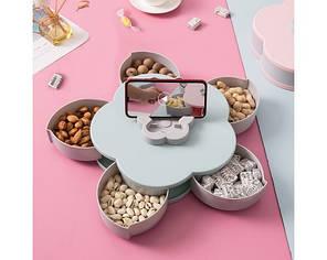 Менажница, Candy Box, Тарелка- органайзер для закусок с подставкой для телефона