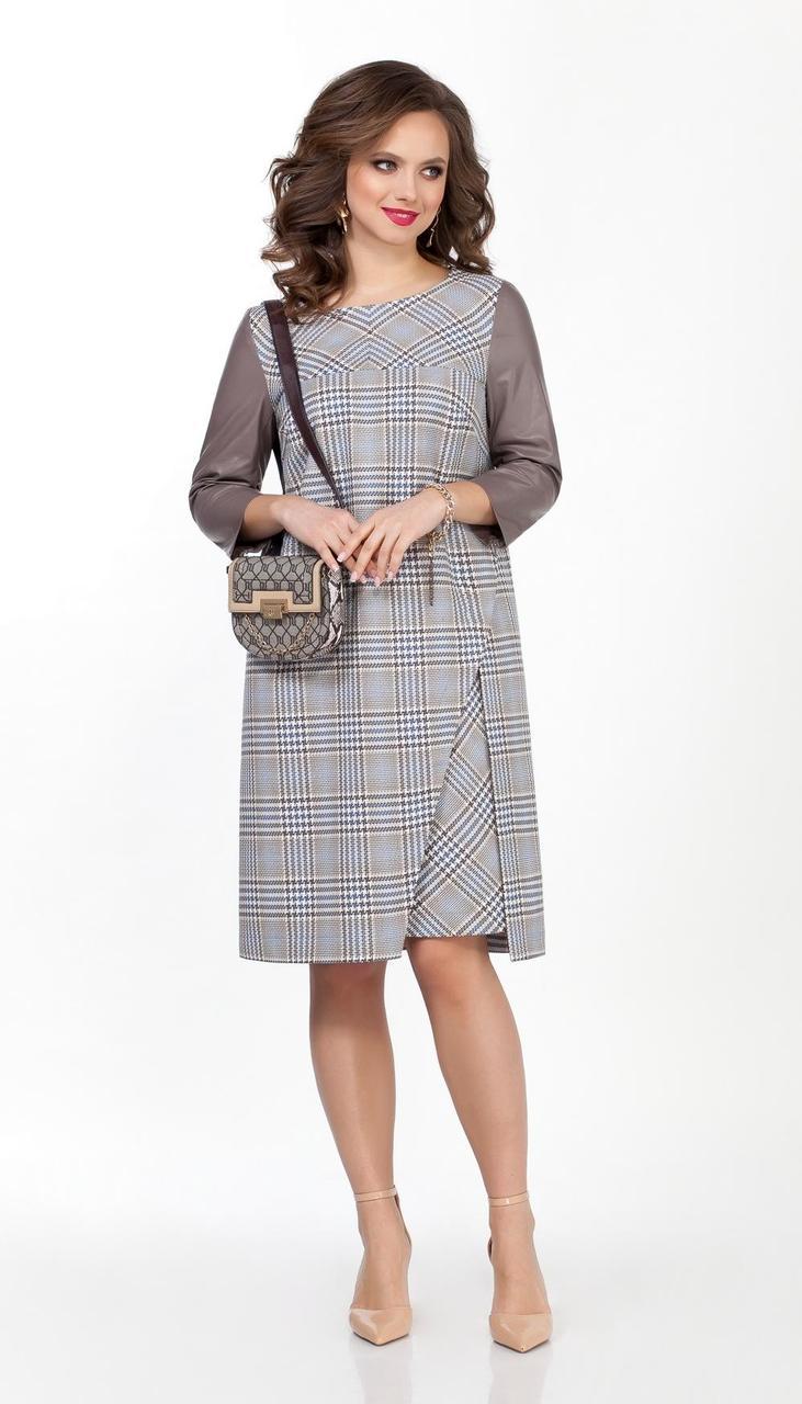 Платье TEZA-2363 белорусский трикотаж, бежевый, 42