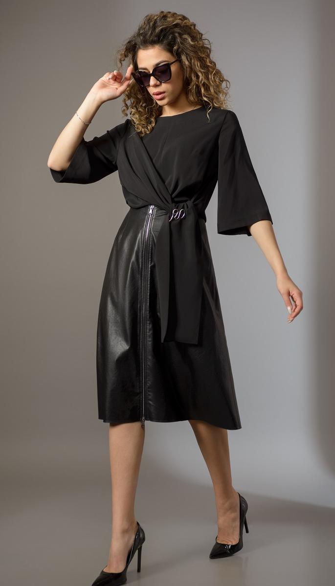 Блузка Сч@стье-7183-1 білоруський трикотаж, чорний, 42