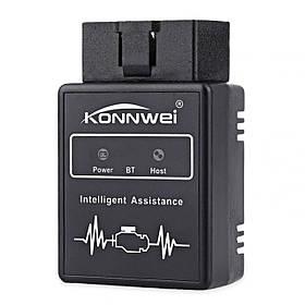 Сканер-адаптер KONNWEI KW912 для диагностики автомобиля OBDII Bluetooth 3.0  КОД: 2793-8575