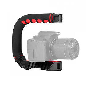 Ручний тримач Ulanzi U-Grip для камери світла мікрофона Чорний КОД: 3060-8795