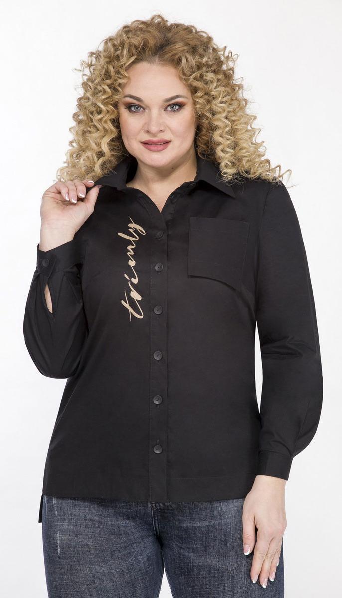 Блузка Теллура-Л-1542 белорусский трикотаж, черный, 52