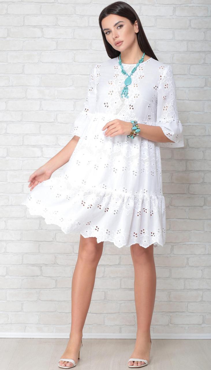 Сукня LIMO-10047 білоруський трикотаж, білий, 44