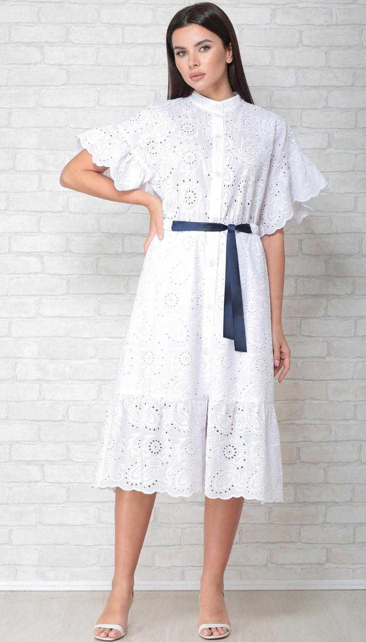Платье LIMO-10049 белорусский трикотаж, белый, 44