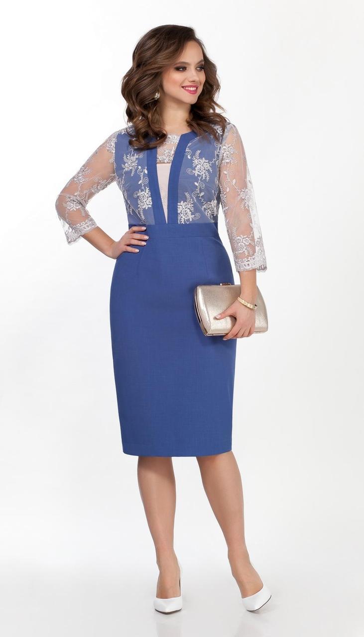 Сукня TEZA-2368 білоруський трикотаж, синій, 50