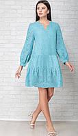 Платье LIMO-10051 белорусский трикотаж, бирюза, 44