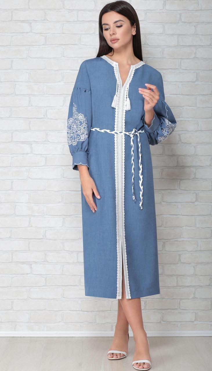 Сукня LIMO-10057 білоруський трикотаж, блакитний, 44