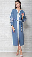 Сукня LIMO-10057 білоруський трикотаж, блакитний, 44, фото 1