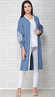 Блузка LIMO-10058 белорусский трикотаж, голубой, 44