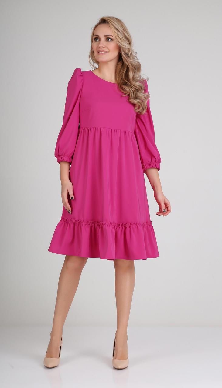 Сукня Andrea Fashion-AF-116/3 білоруський трикотаж, фуксія, 42