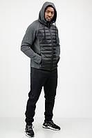 Спортивный костюм мужской теплый зимний c капюшоном комбинированный
