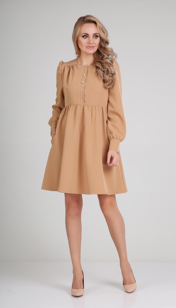 Платье Andrea Fashion-AF-117/3 белорусский трикотаж, миндаль, 42