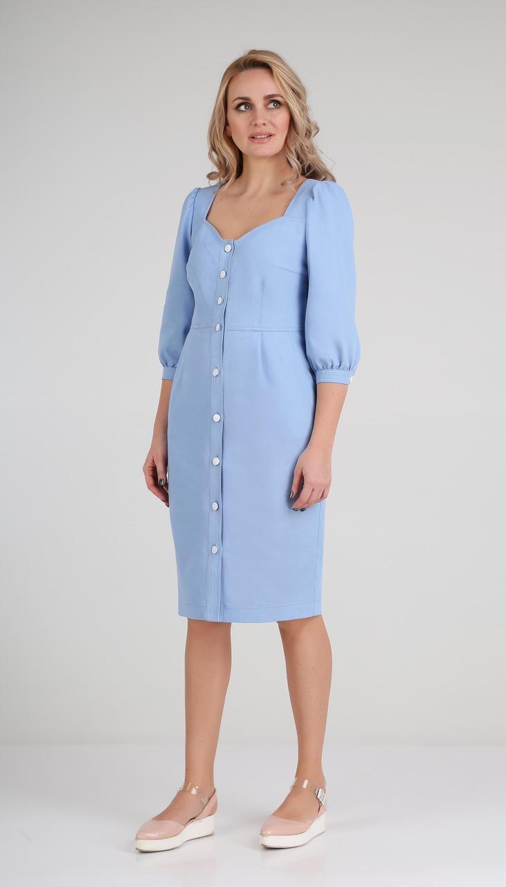 Платье Andrea Fashion-AF-119 белорусский трикотаж, голубой, 44