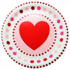 Тарілки сердечко 8 шт/уп