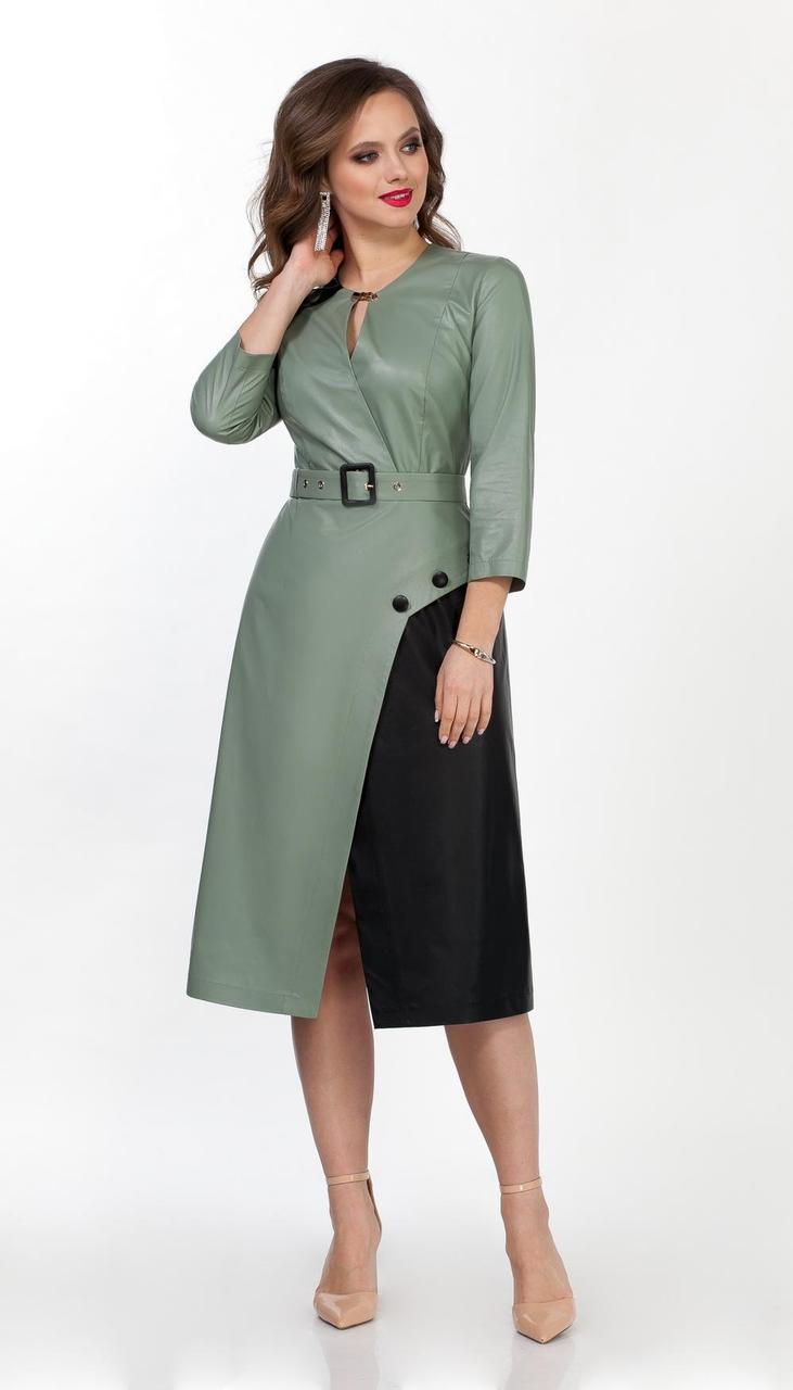 Платье TEZA-2024/2 белорусский трикотаж, мох, 44