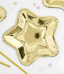 """Бумажные тарелки """"Gold stars"""" Big (6 шт.)"""
