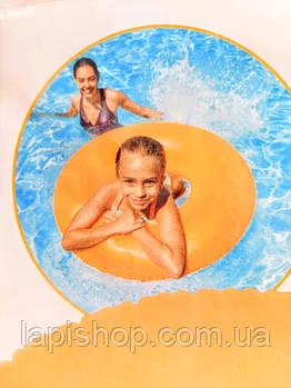 Надувной круг для плавания однотонный 91см от 8 лет Intex 59262