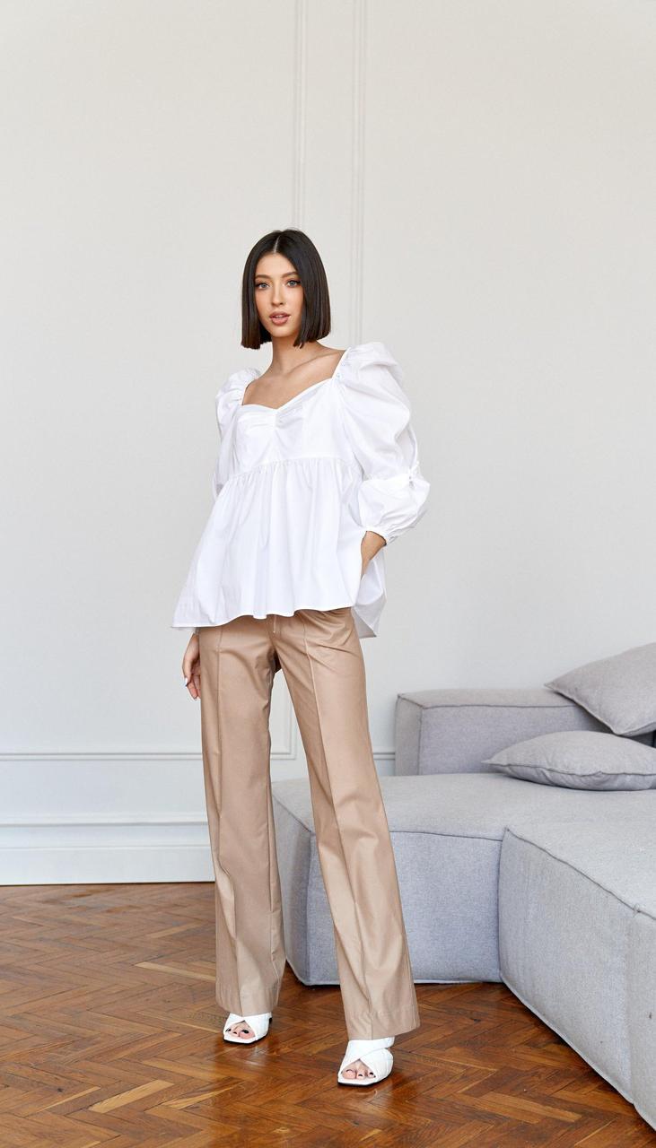 Блузка Beauty-3945 белорусский трикотаж, белый, 42