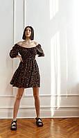 Сукня Beauty-3763 білоруський трикотаж, чорний + червоні, 42