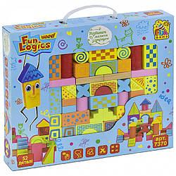 Игрушка развивающая для детей Fun logics деревянный конструктор 52 детали (7370)