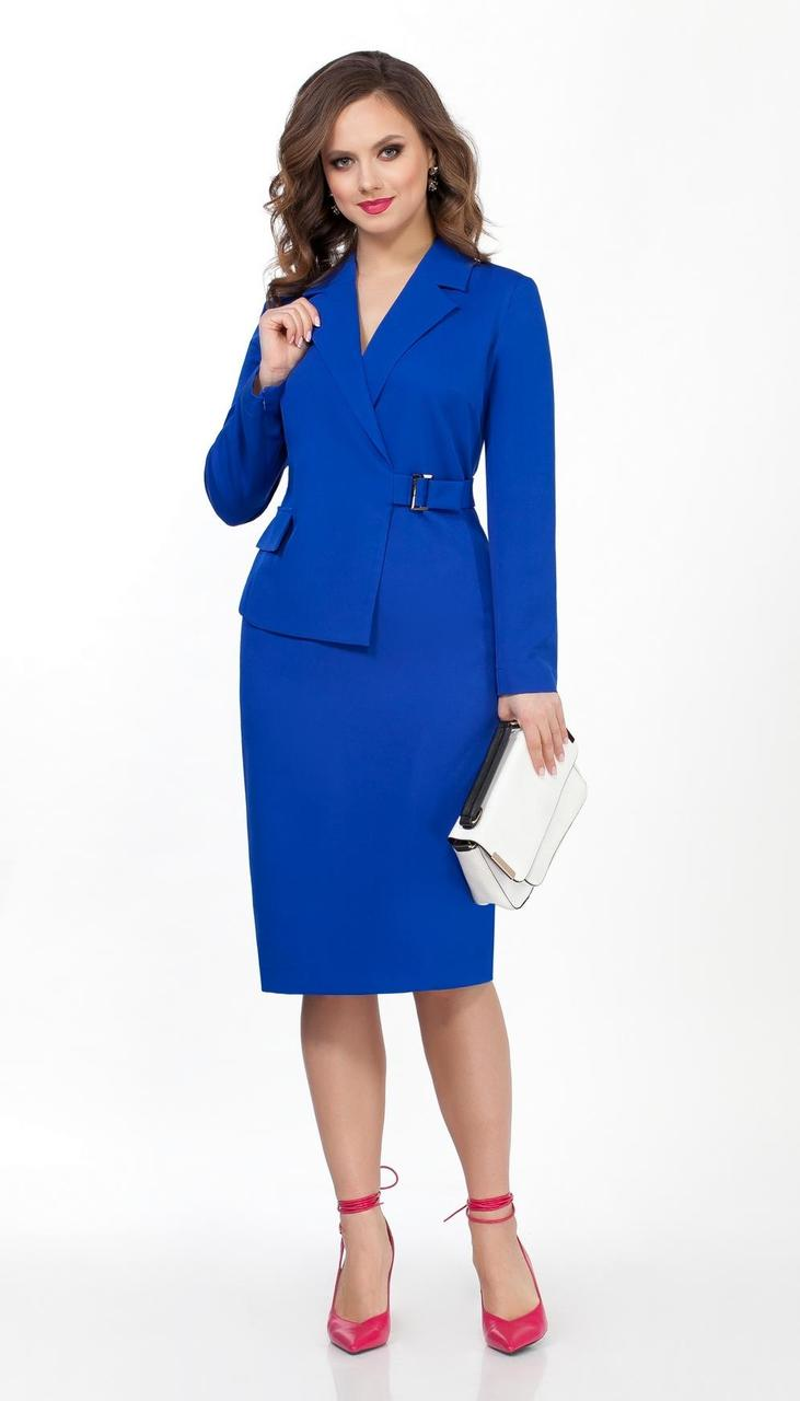 Платье TEZA-2041/3 белорусский трикотаж, синий, 44