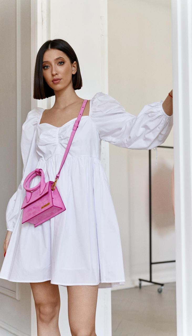 Платье Beauty-3761 белорусский трикотаж, белый, 44