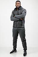 Спортивный костюм мужской теплый зимний c капюшоном темно-серый