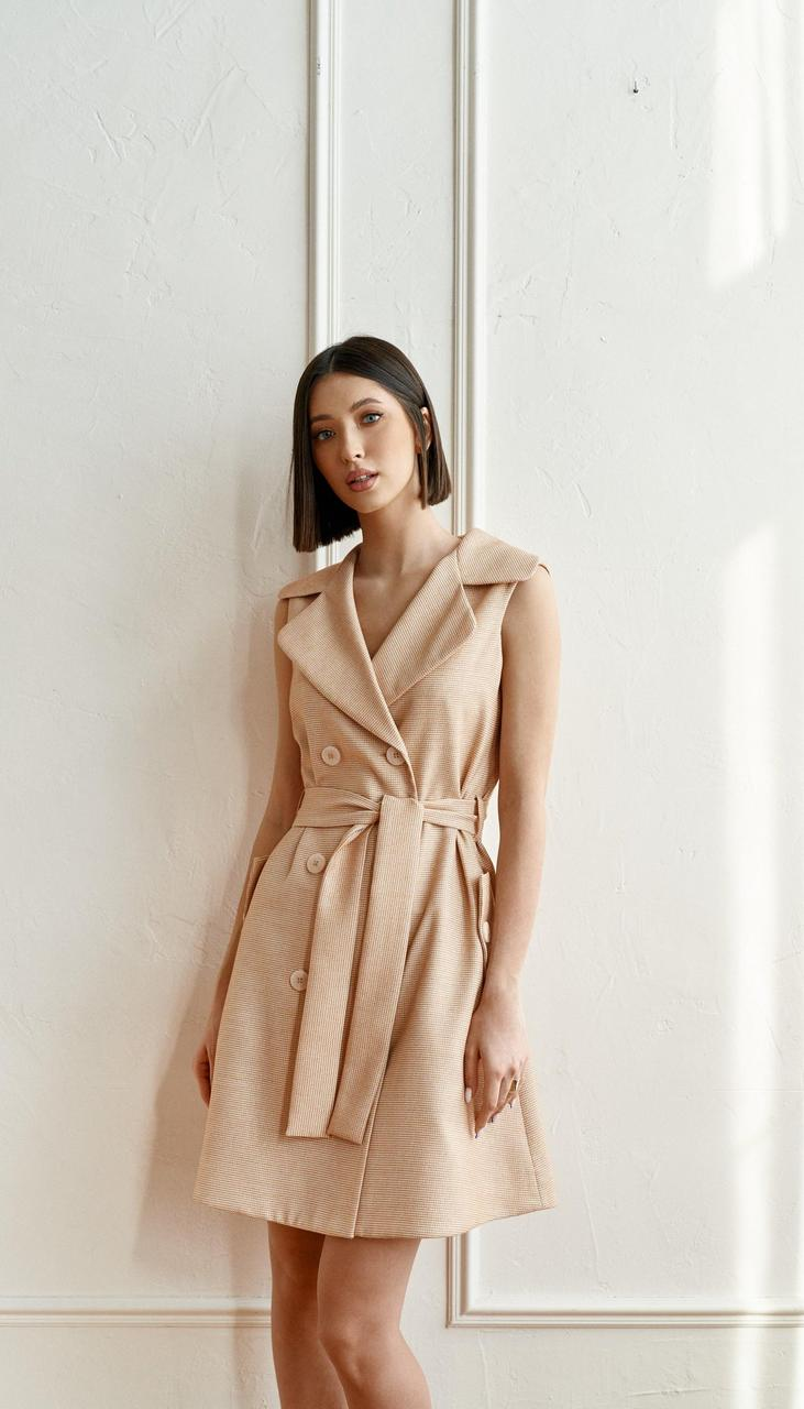 Платье Beauty-3753 белорусский трикотаж, бежевый, 42