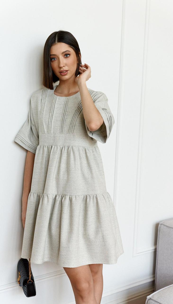 Платье Beauty-3749 белорусский трикотаж, серый, 42