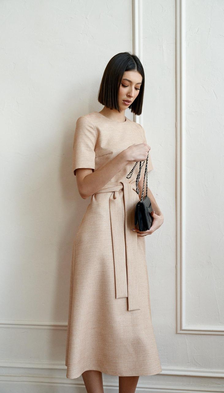 Сукня Beauty-3751 білоруський трикотаж, бежевий, 42