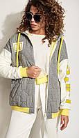 Куртка Сч@стье-7189 білоруський трикотаж, сірий, 42, фото 1
