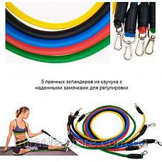 Набір жіночого зимового взуття для фітнесу Power Bands 5 гумових джгутів, фото 2