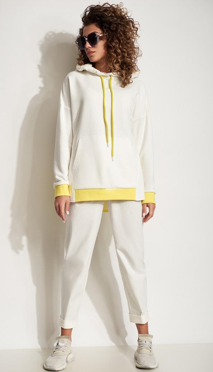 Спортивная одежда Сч@стье-7191 белорусский трикотаж, белый с желтым, 42