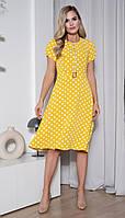 Сукня Юрс-20-355-1 білоруський трикотаж, жовтий горошок, 46