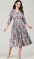 Платье TEFFI style-1425/7 белорусский трикотаж, графит, 44, фото 1