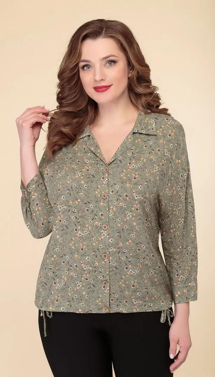 Блузка Дали-2505 білоруський трикотаж, зелений, 48