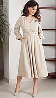 Сукня TEFFI style-1537 білоруський трикотаж, кремовий, 48