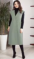 Платье TEFFI style-1523/9 белорусский трикотаж, олива, 50, фото 1