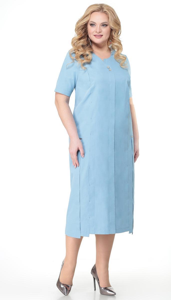 Платье Novella Sharm-3682 белорусский трикотаж, голубой, 60