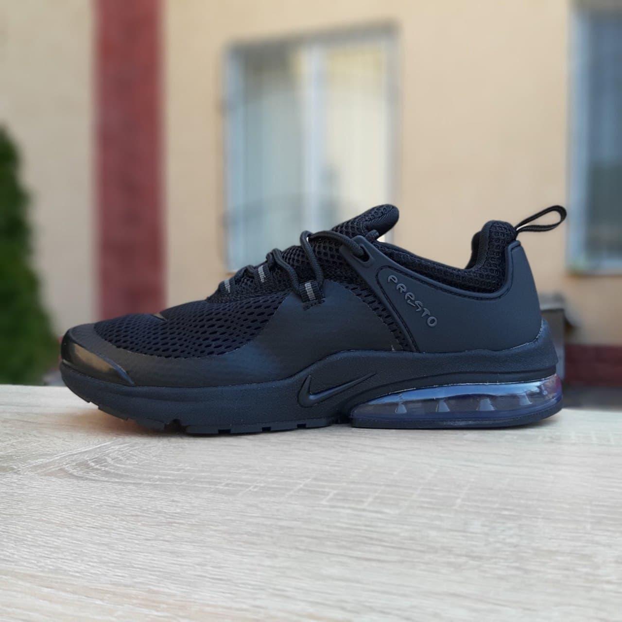 Чоловічі кросівки Nike Air Presto (чорні) якісні стильні кроси О10065