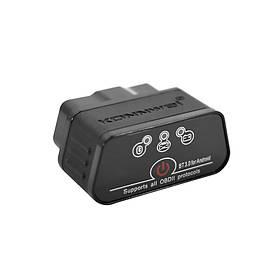 Диагностический автомобильный OBDII сканер KONNWEI KW903 ELM327 Bluetooth 3.0 для Windows Android IOS Черный